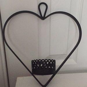 Pottery Barn Hanging heart votive